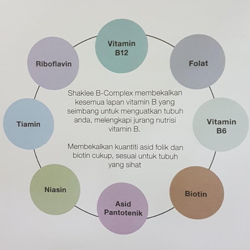 BComplex Shaklee. Lengkap 8 vitamin B.