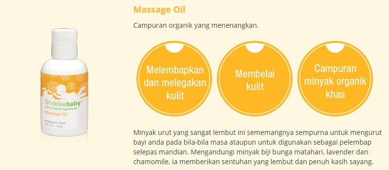 Set ShakleeBaby Massage Oil