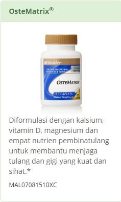 Ostematrix - Gabungan Kalsium-Magnesium Shaklee