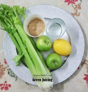 Apple Celery - green juicing