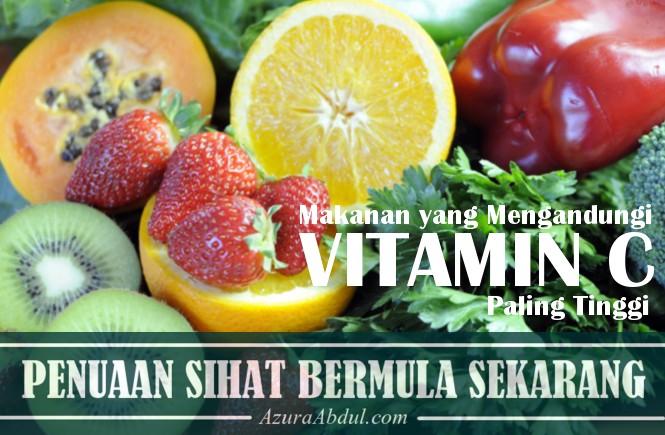 Makanan yang mengandungi vitamin c paling tinggi