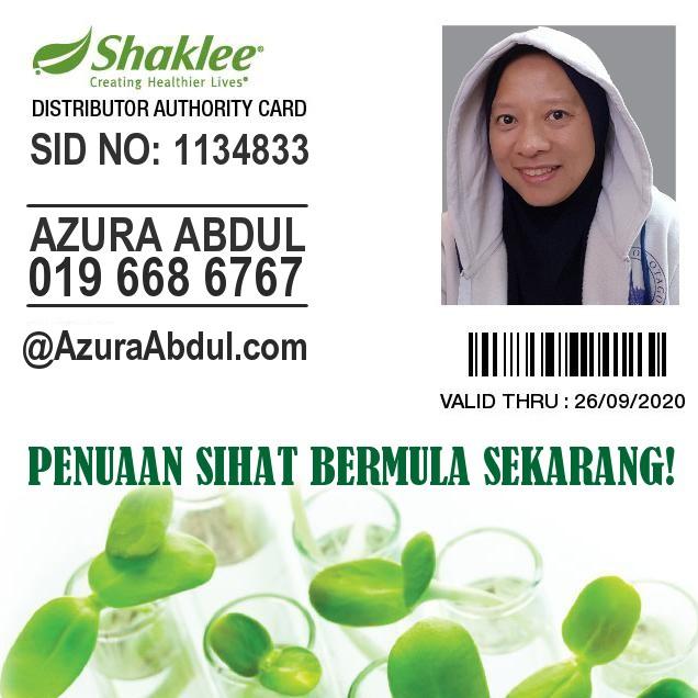 Azura Abdul - Pengedar Sah Shaklee