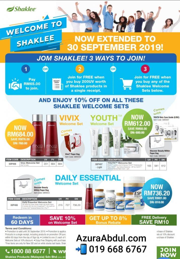 Promosi Shaklee Julai 2019 Jom Shaklee