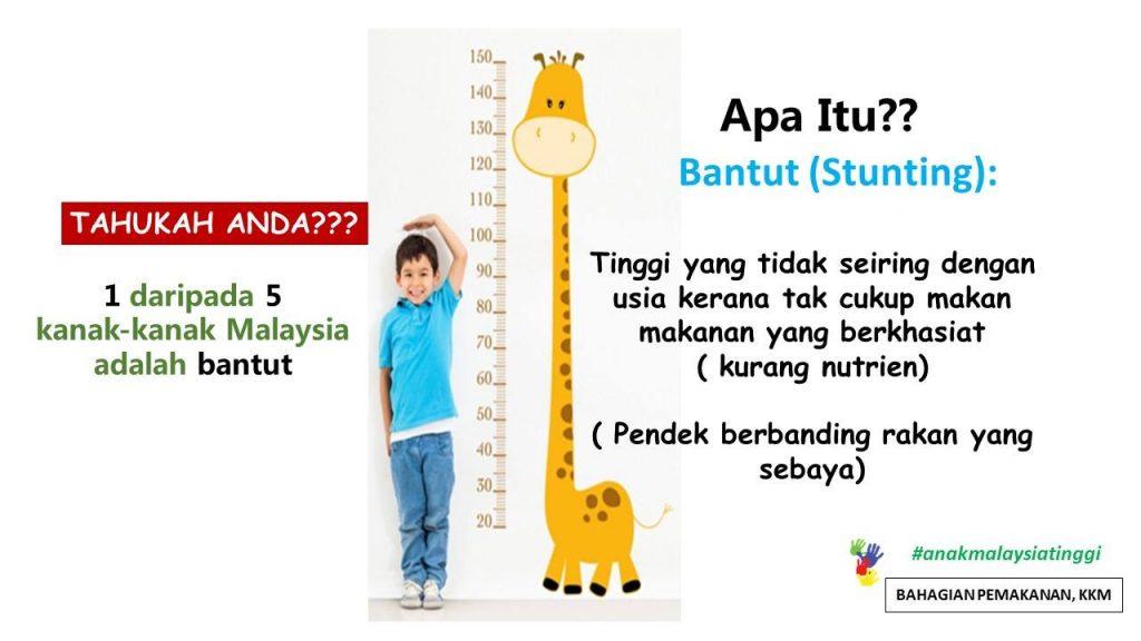 Bantut bermaksud pertumbuhan anak yang tidak sihat