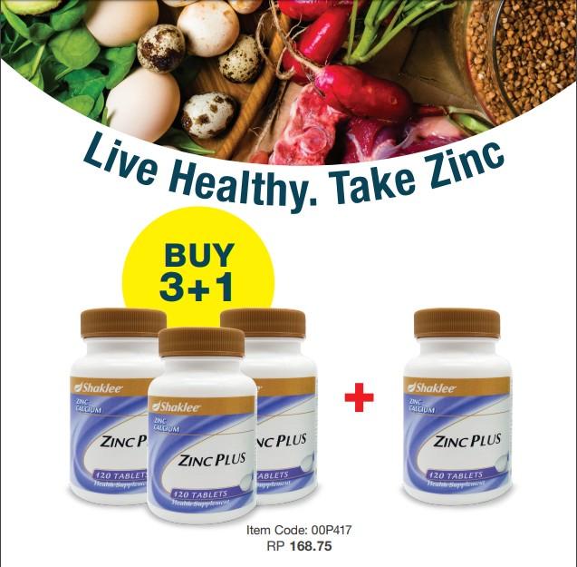 Promosi Shaklee Disember 2019 - Hidup sihat. Amalkan Zinc Plus Shaklee!