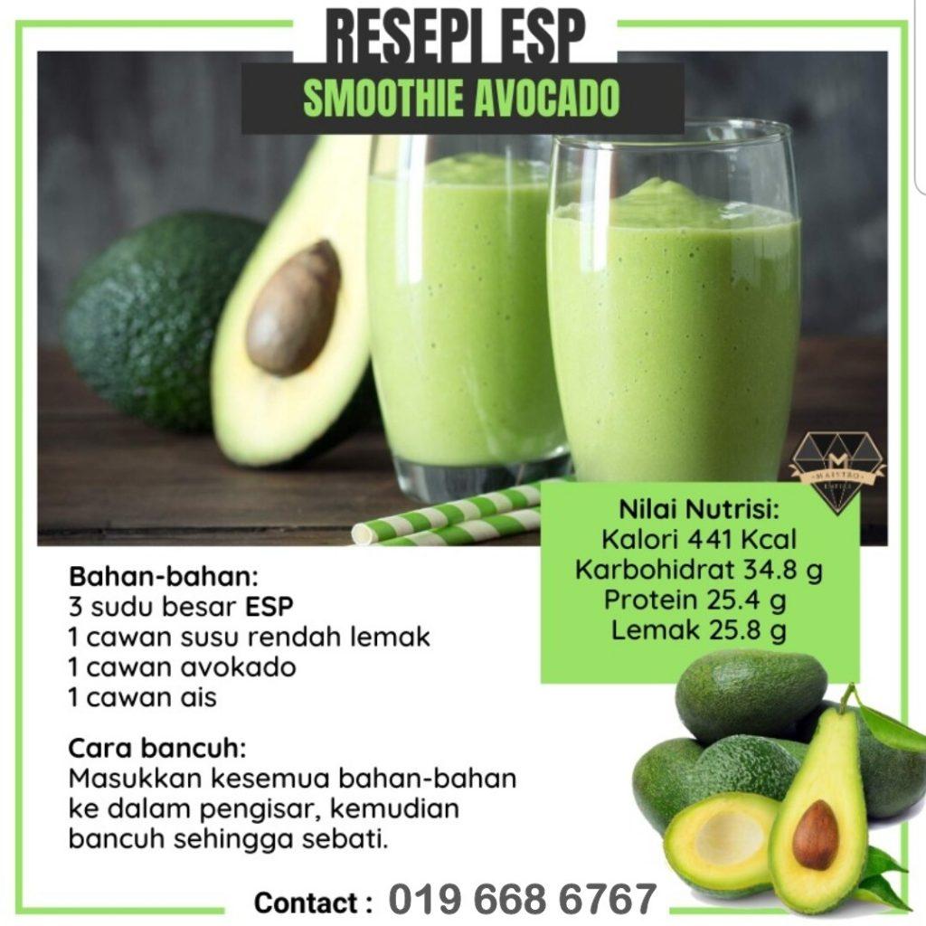 Resepi sedap ESP Shaklee bersama Avocado