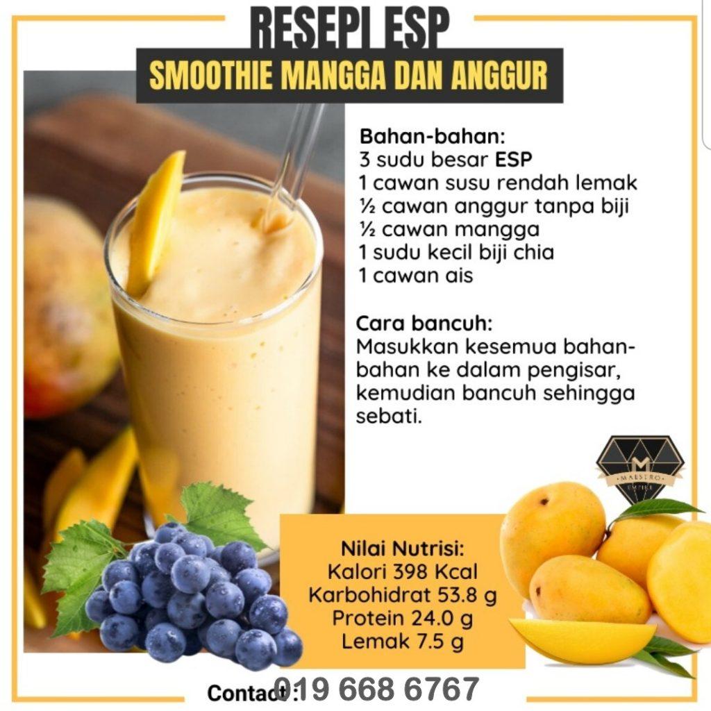 Resepi sedap ESP Shaklee bersama Mangga dan Anggur