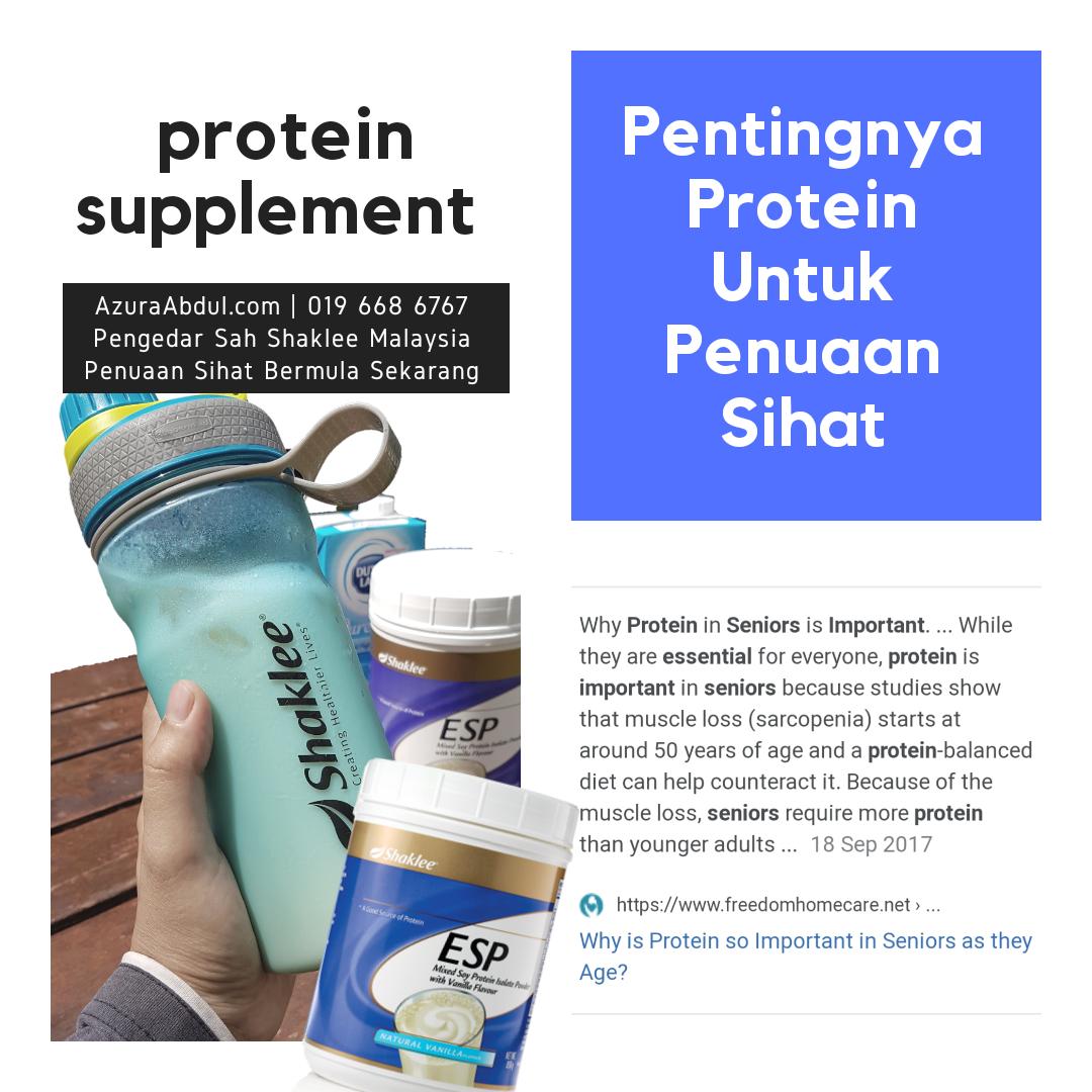 Protein sangat penting dalam menuju penuaan sihat.