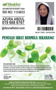 KakNjang Azura Abdul. Pengedar Shaklee Anda!