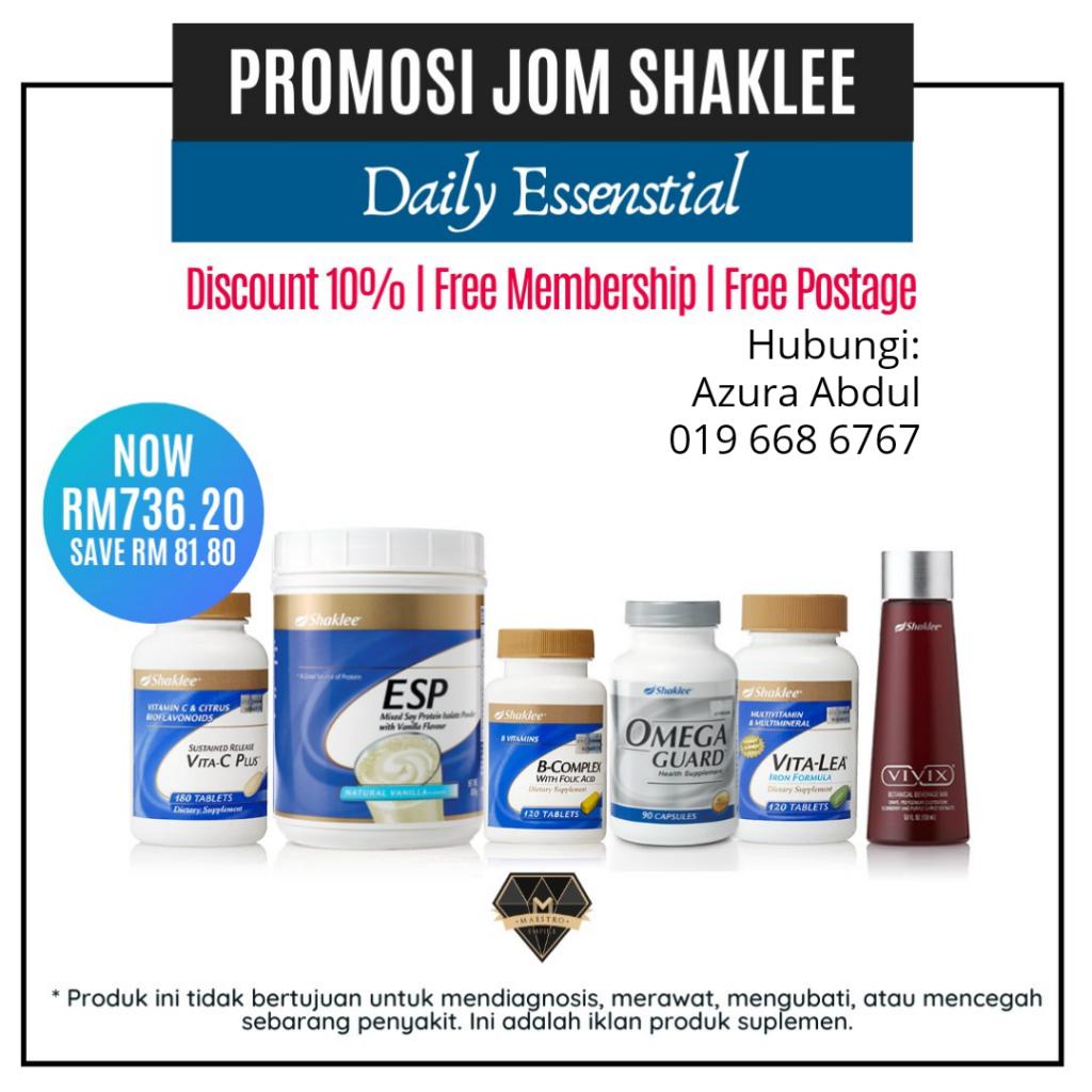 Promosi Shaklee Disember 2019 - Jom Shaklee!