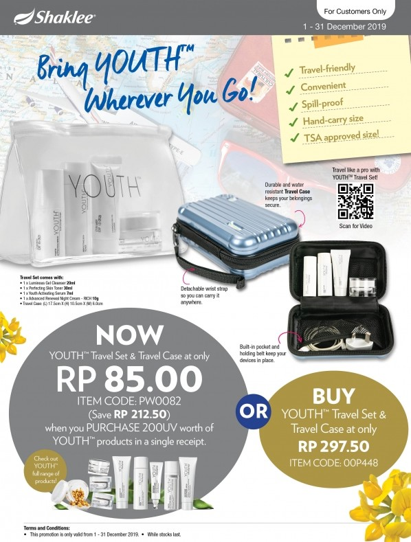Promosi Shaklee Disember 2019 - YOUTH 200uv / YOUTH Trial Set!