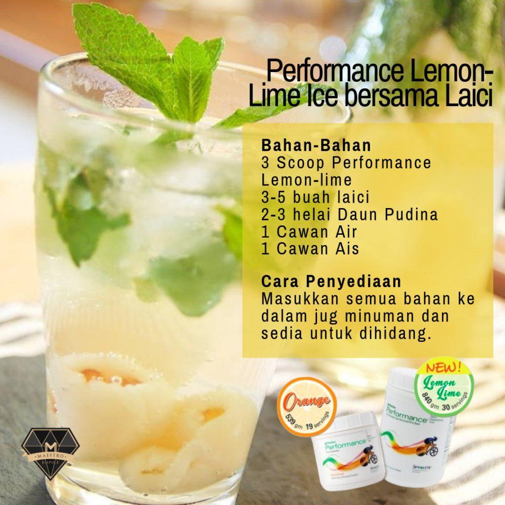 resepi Performance Drink Shaklee Sedap!