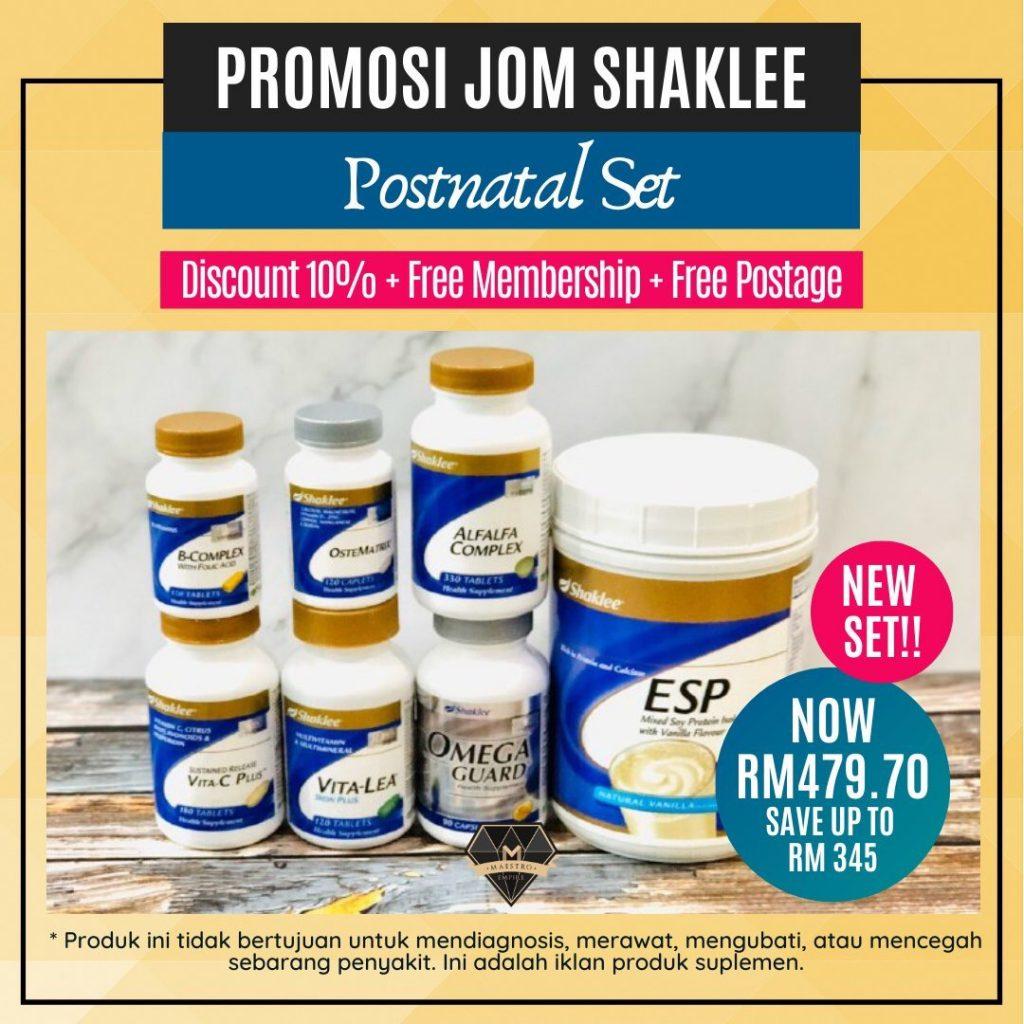 Promosi Jom Shaklee 2020 Postnatal Set