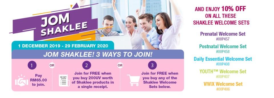 Promosi Jom Shaklee Diteruskan untuk membolehkan lebih ramai rakyat Malaysia nikmati hidup lebih sihat!
