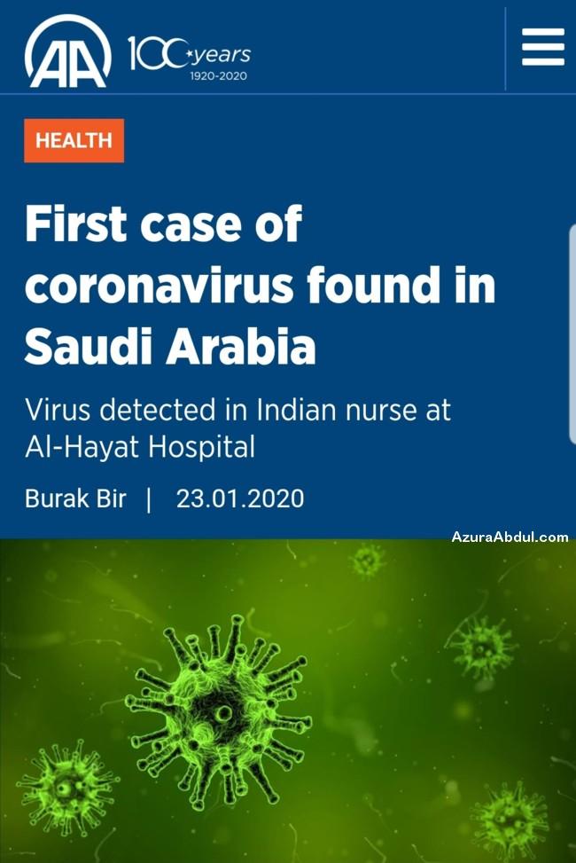 kes pertama novel coronavirus arab saudi