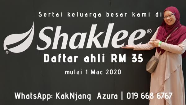 Yuran Pendaftaran Ahli Shaklee Kini RM35