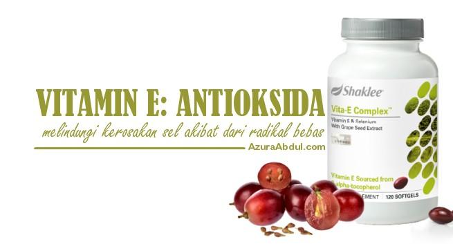 Vitamin E Vita-E Shaklee Antioksida melindungi kerosakan sel akibat dari radikal bebas