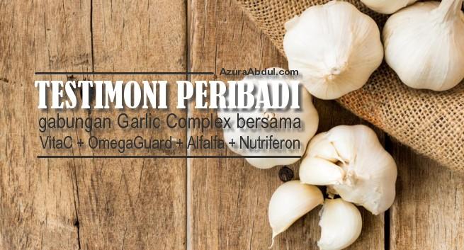 Testimoni Peribadi bersama Garlic Complex Shaklee