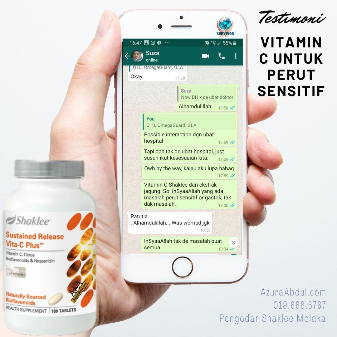 Testimoni Vitamin C Untk Perut Senitif. Sihat dengan vitamin c Shaklee