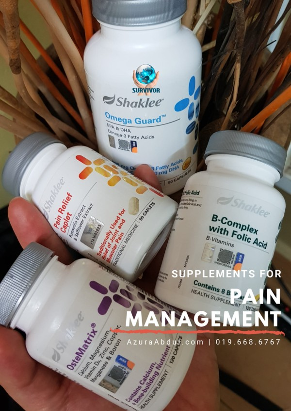 Supplements for pain management by Azura Abdul