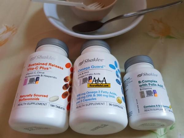 vitamin c, omegaGuard dan BComplex untuk pesakit demam denggi