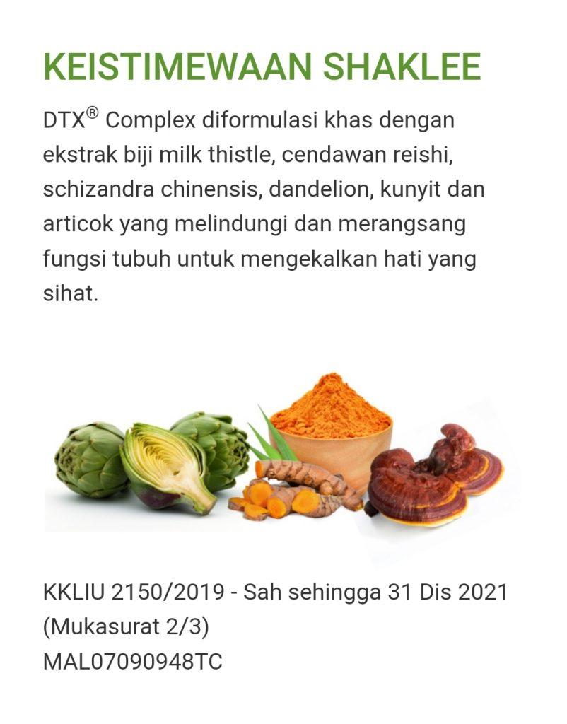 DTX sokong fungsi hati lebih baik