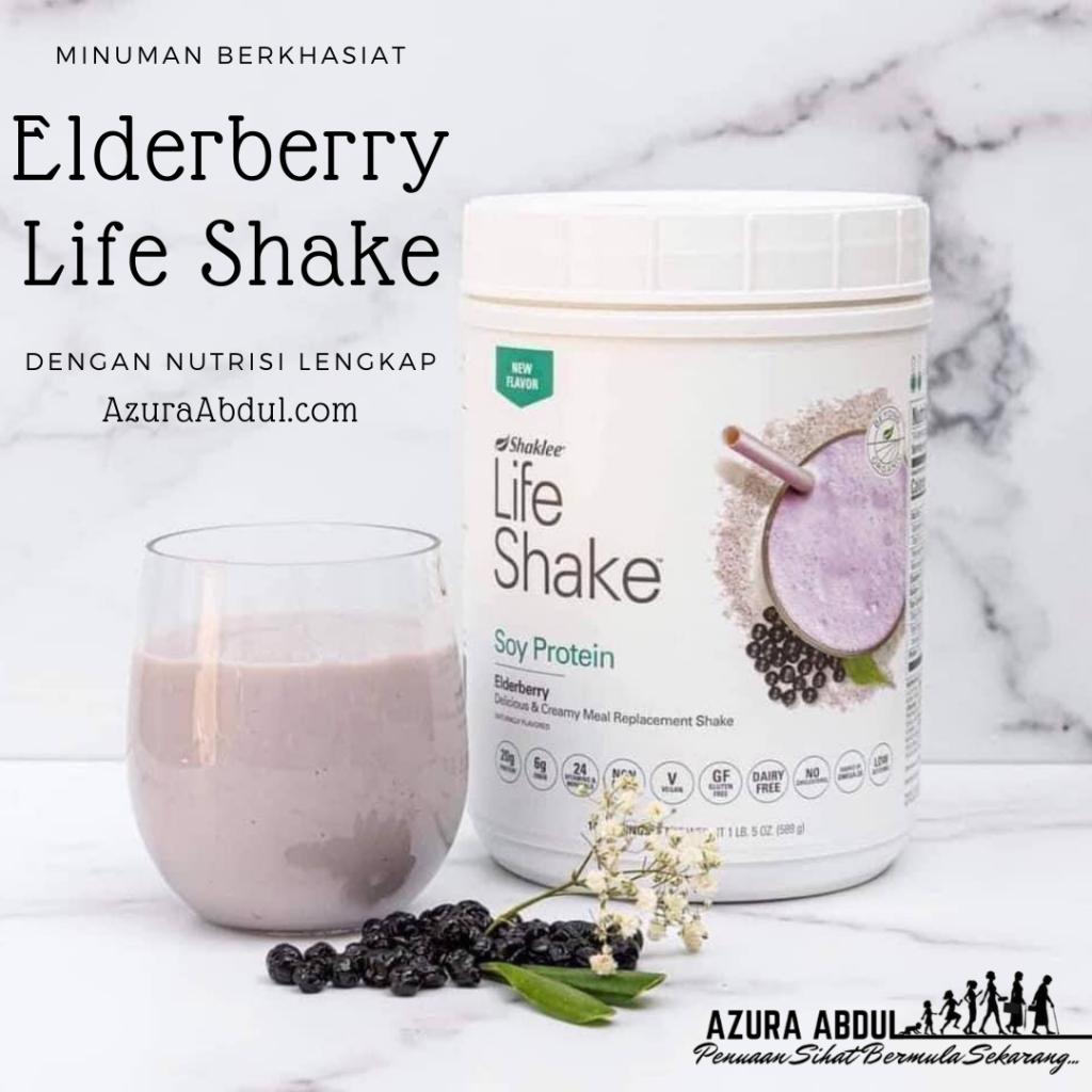 minuman berkhasiat elderberry life shake shaklee