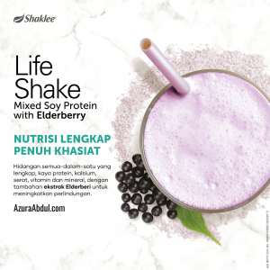 Life shake Shaklee mixed soy protein wit