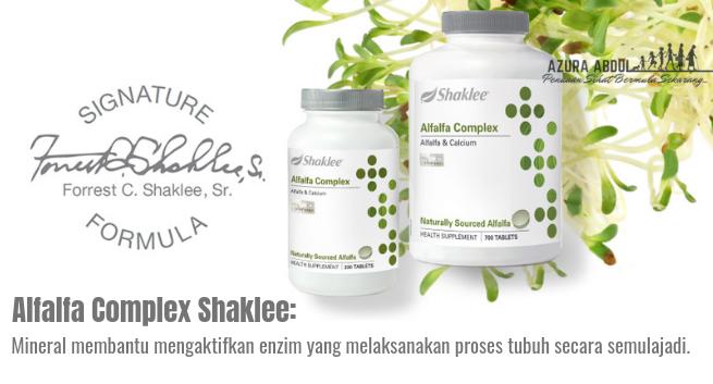 Alfalfa Complex Shaklee: sokong detox semulajadi tubuh | Azura Abdul