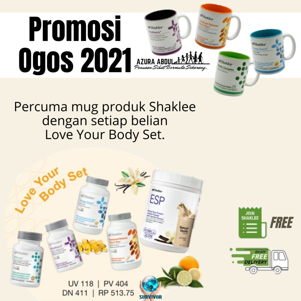 Promosi Shaklee Ogos 2021   Love Your Body Set   Azura Abdul