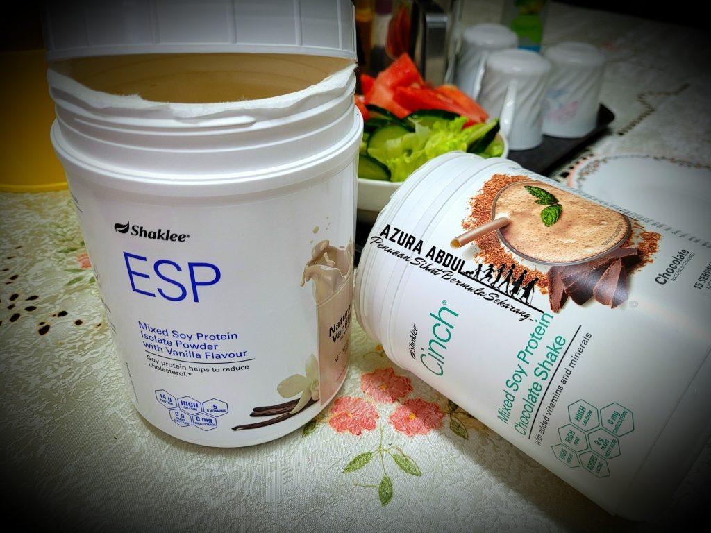 Mulakan hari dengan ESP dan CinchShakes Shaklee untuk sumber protein terbaik, lengkapkan dengan buah dan sayur | Azura Abdul