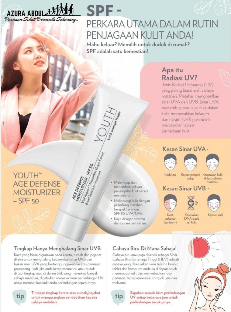 YOUTH SkinCare | Age Defense Moisturizer with SPF50 | Azura Abdul